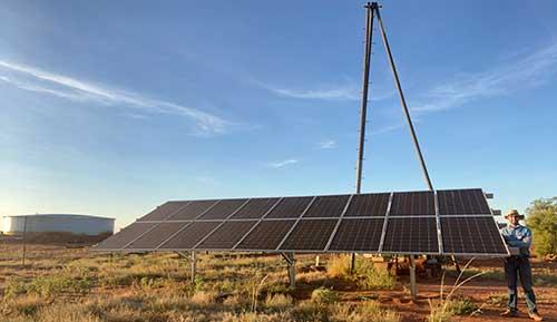 Solar-powered bore