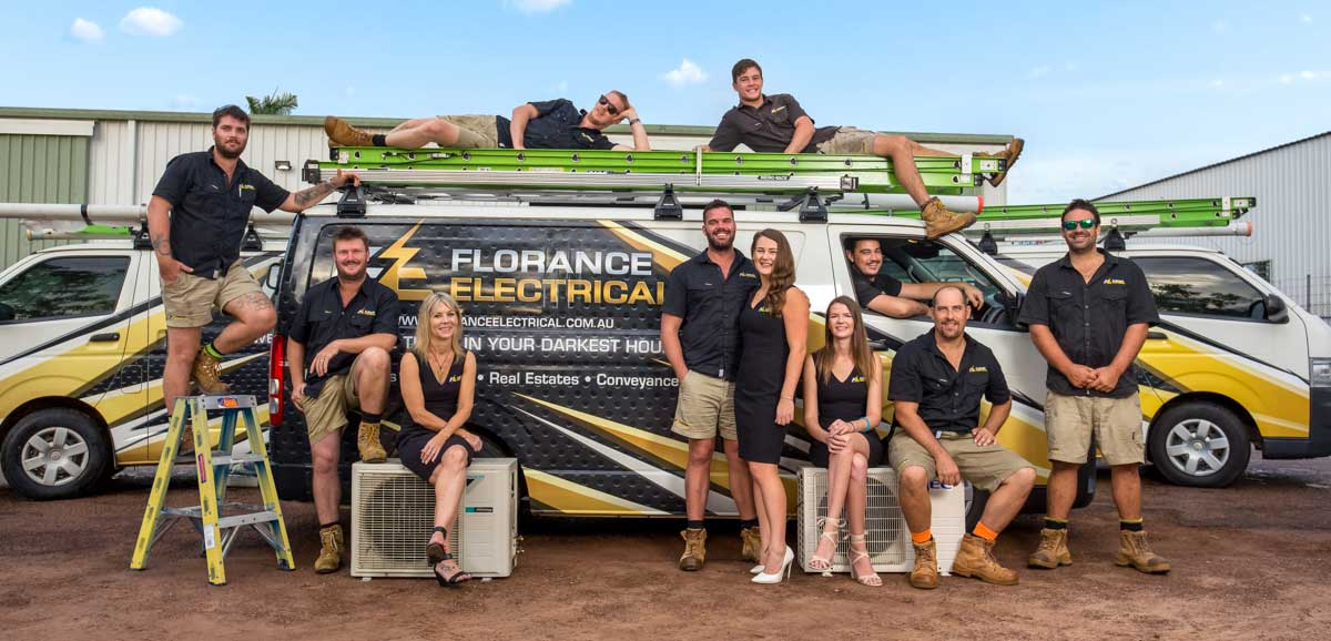Group shot of Florance Electrical staff