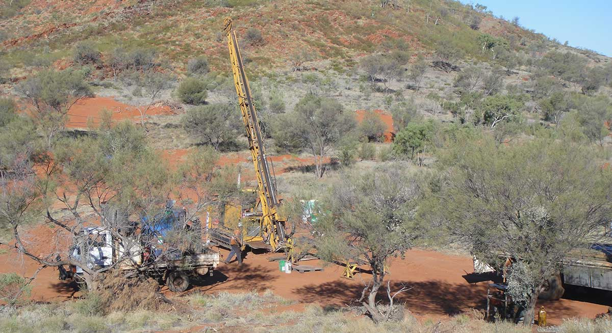 Land-based mining site