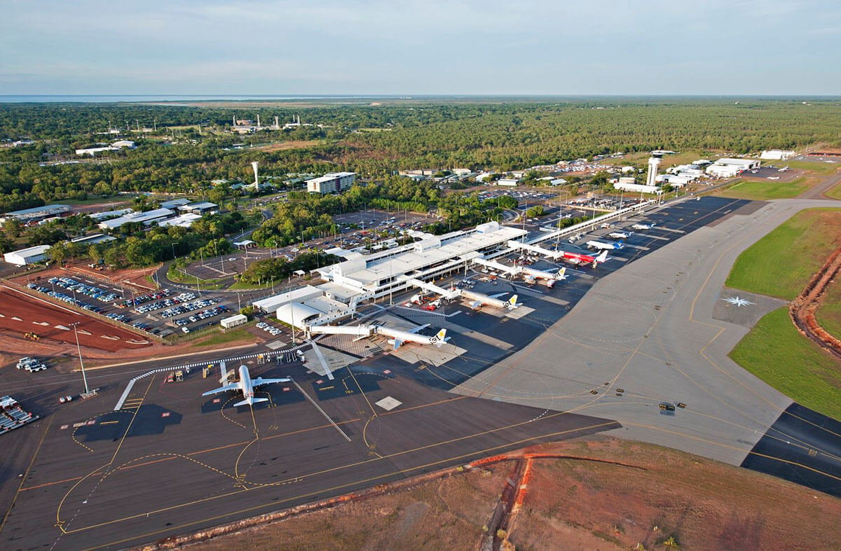 Birds-eye view of Darwin airport