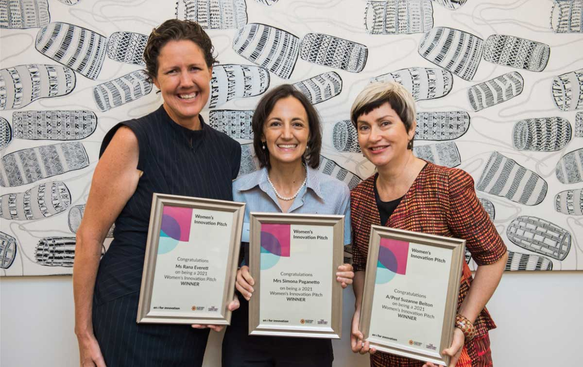 Winners of the Women's Innovation Pitch