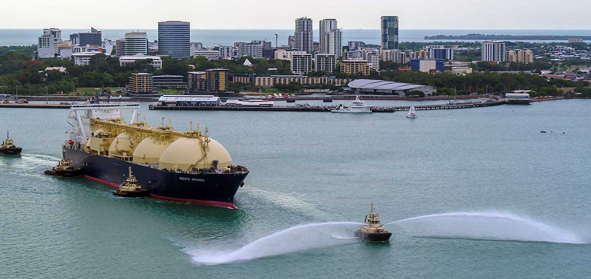 INPEX LNG cargo ship in Darwin Harbour
