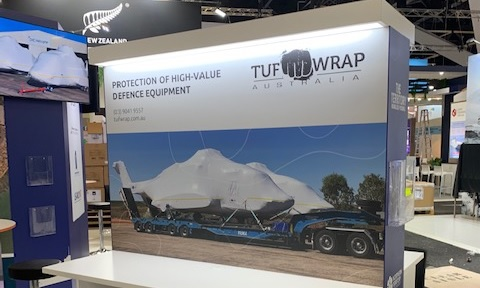 Tufwrap stand at the last Land Forces expo