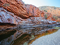 views of Ormiston Gorge in the West MacDonnell Ranges in Northern Territory, Australia
