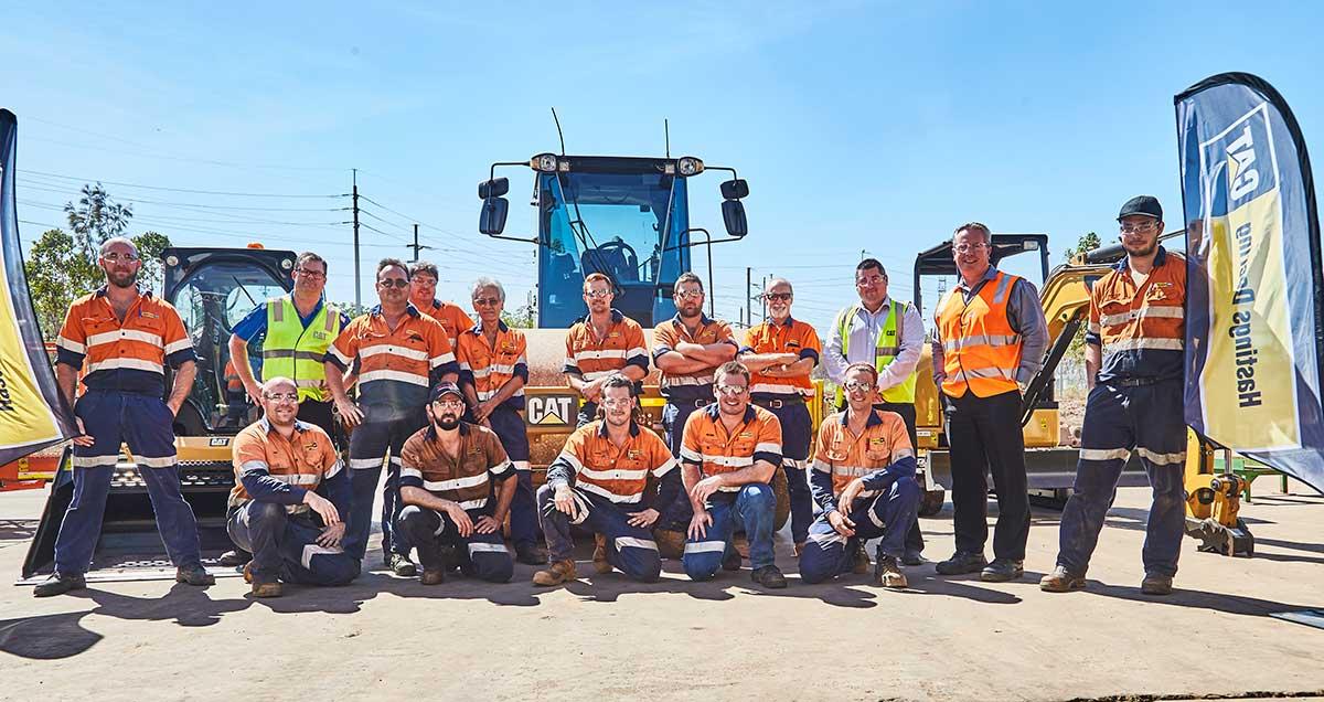 Group shot of Hastings Deering employees