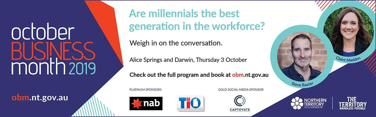 OBM 2019 Great Debate, book at obm.nt.gov.au