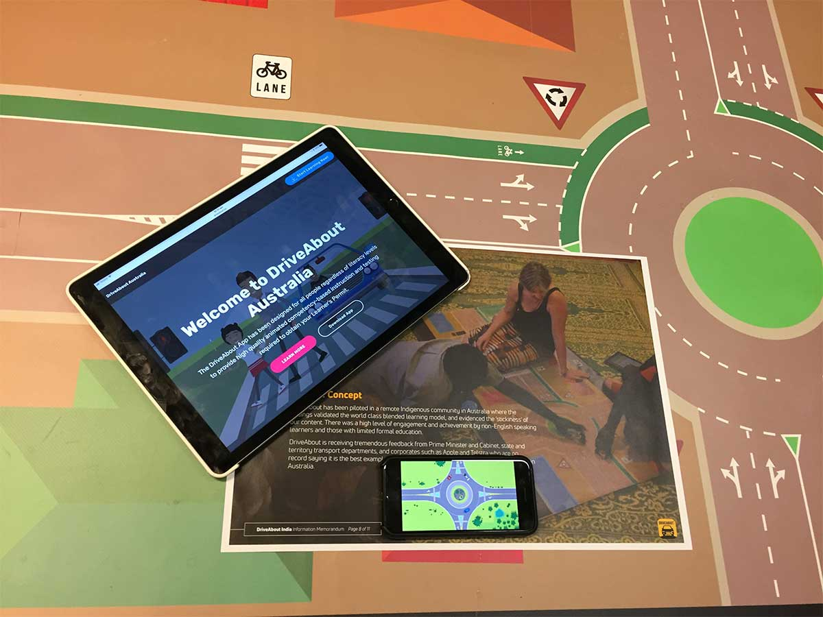 iPad with open app DriveAbout