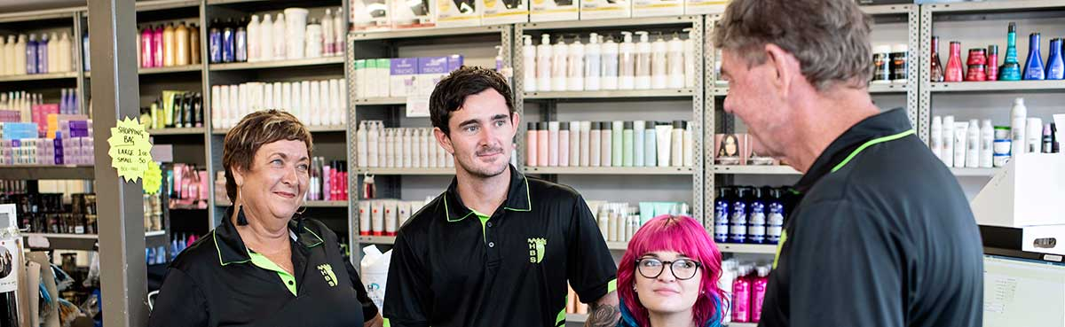 Hairdressing and Beauty Supplies employees in the salon