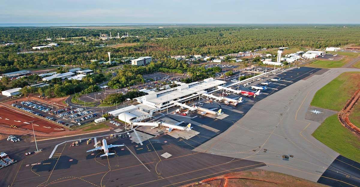 Aerial view of Darwin Airport