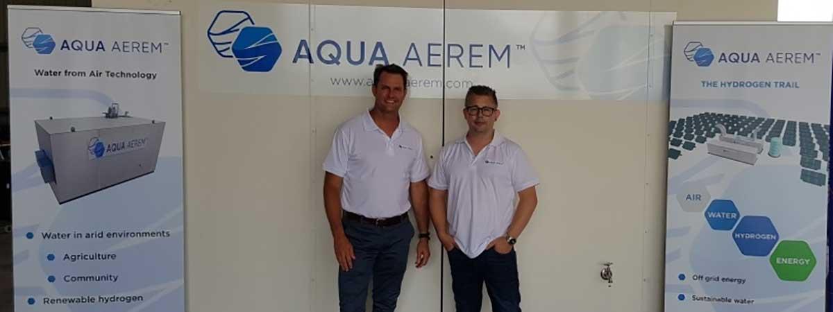 Staff of Aqua Aerem at a conference
