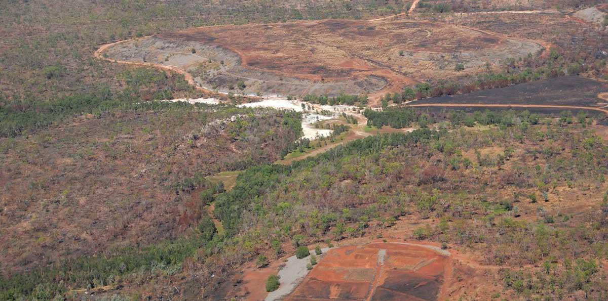 Aerial shot of Rum Jungle