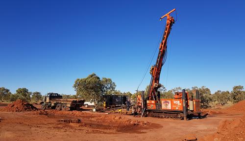Onshore drilling setup