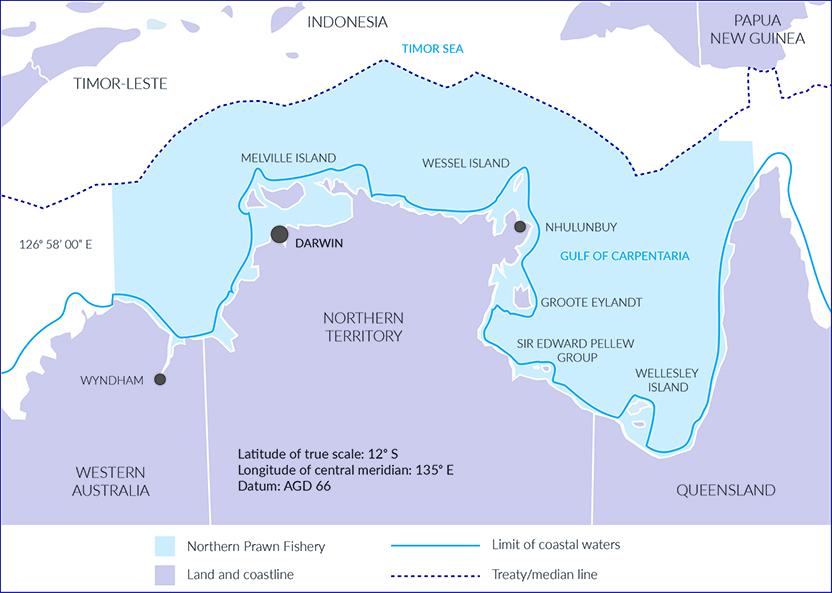 Figure 7: Northern Prawn Fleet Fishery management area