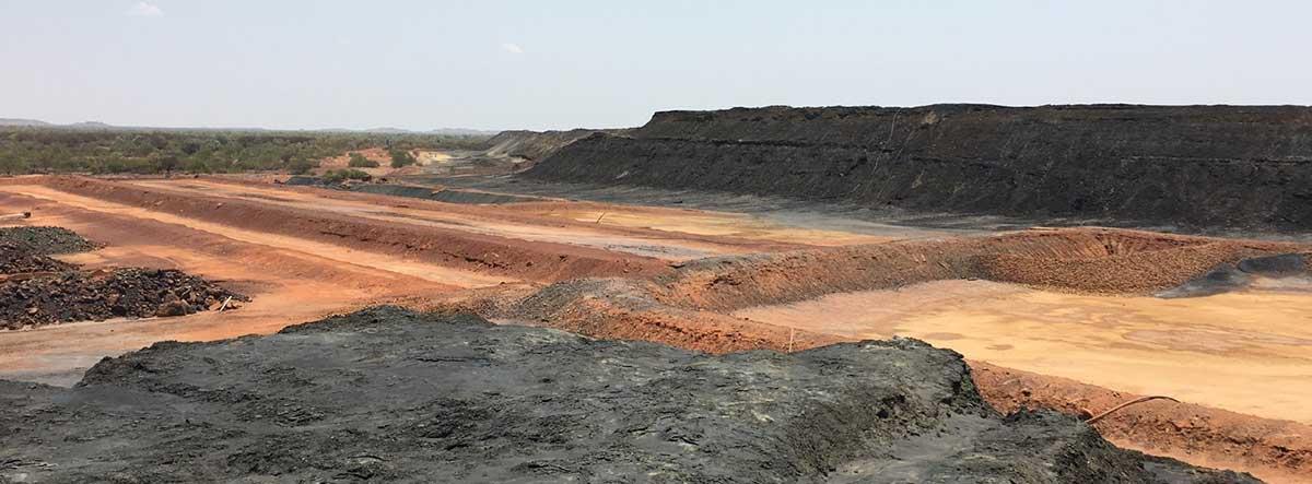 Trailings dam in Peko mine