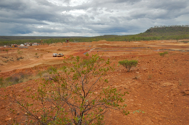 View of the mine site looking north (2013).