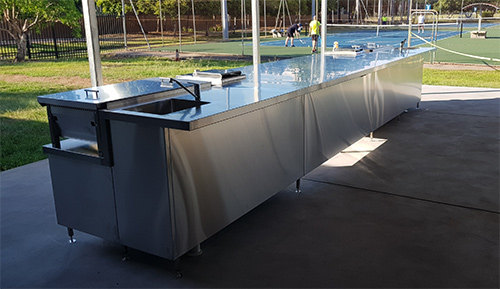 Gardens Tennis Club upgraded BBQ area
