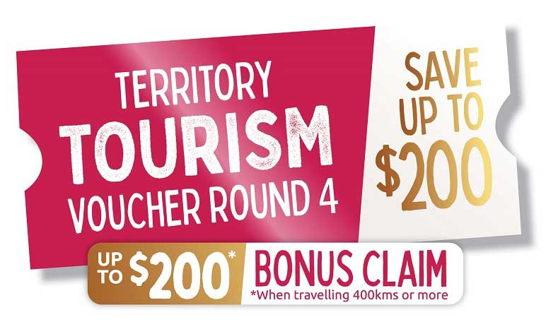 Territory tourism voucher round 4, save up to $200, up to $200 bonus claim when travelling 400kms or more