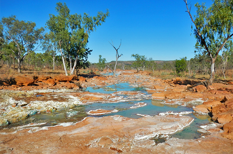 Downstream from Hanrahans Pool during the dry season (August 2014)