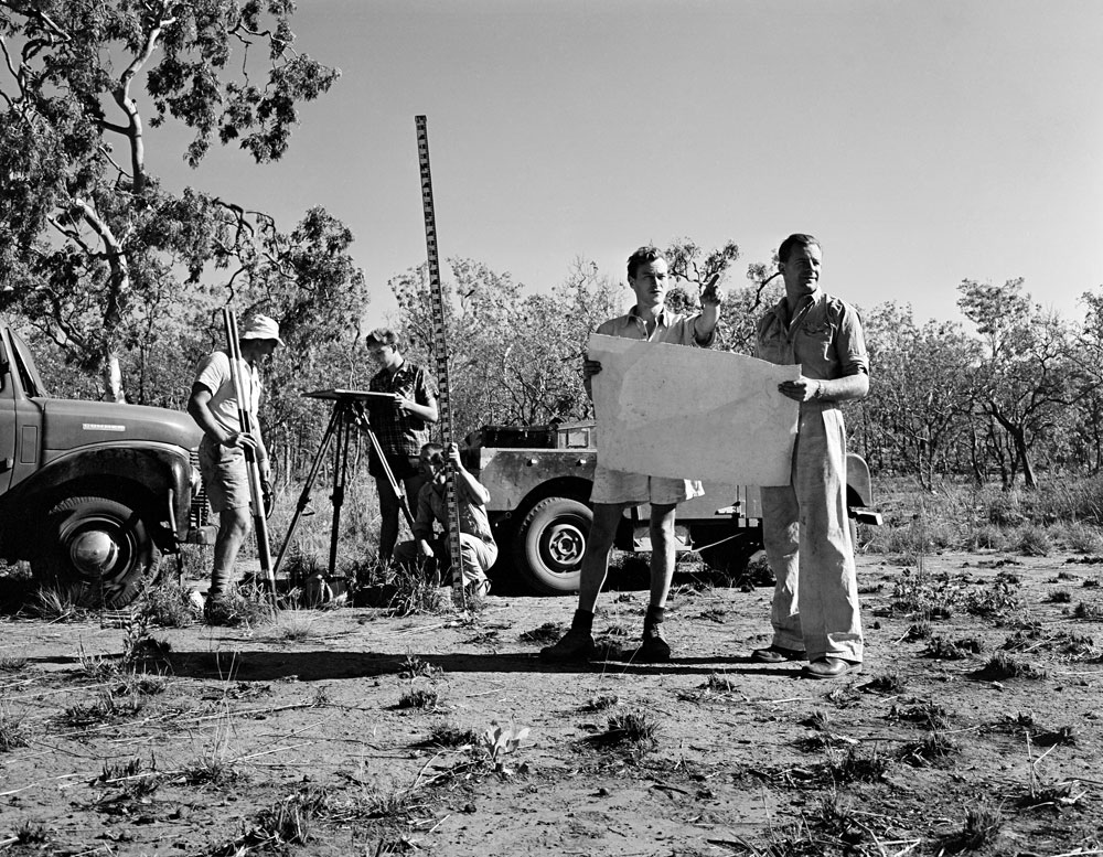 Geologists at Rum Jungle mine site (1955). National Archives of Australia: A1200, L19446